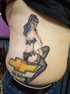 Chevy Logo with Pinup