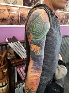 Full Color Beach to Space Sleeve
